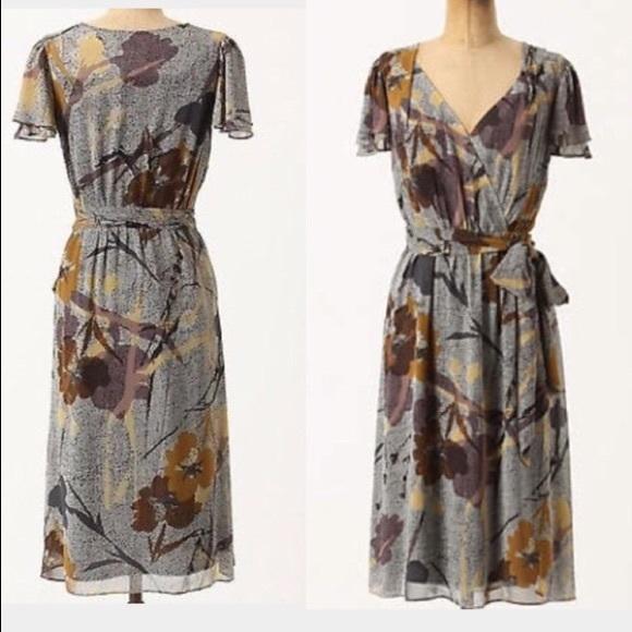 d09eabbb4307 Anthropologie Maeve Bronwen Floral Silk Dress 8. M_5bec8eba153795aa455c6960